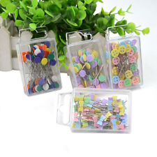 100X Patchwork Pins Flower Button Head Pins DIY Quilting Tool Sewing Acc TB
