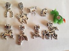European Silver Horse Charms, your Choice of Style, Buy 5 Get 1 Free+