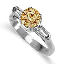 1.38 CTW Champagne Diamond Ring in 18k Yellow or White Gold