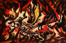 Jackson Pollock Oil Painting on Canvas abstract art home decor fire