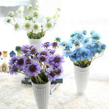 4 Heads Artificial Silk Flowers Bridal Windmill Orchids Party Wedding Home Decor