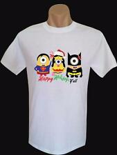Merry Christmas Super Hero Minions on Quality Gildan Mens & Kid's Cotton T Shirt