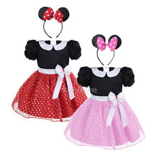 Infant Baby Girl Halloween Polka Dots Costume Cosplay Party Bow Dress Hair Hoop
