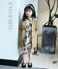Girls Jacket Children's Clothing Girl Winter Trench Wind Dust Hooded Outerwear