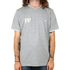 Fred Perry FP Logo T Shirt - Vintage Steel Marl