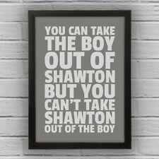SHAWTON - BOY/GIRL FRAMED WORD TEXT ART PICTURE POSTER South Lanarkshire