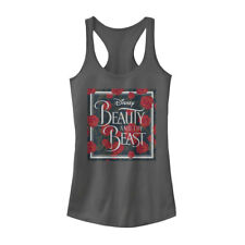 Beauty and the Beast Rose Logo Juniors Graphic Racerback Tank