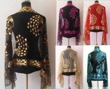 Hot Sale Chinese Lady Women Beaded Sequin Shawl/Scarf Wraps Peacock&Flower