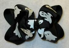 Ghost Hairbow Halloween Hair Bow Spooky Bows Double Layered Girls Bow Boutique