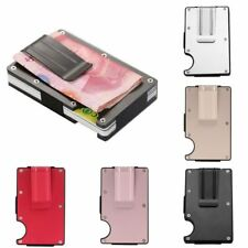 Stainless Steel Elastic Band Slim Money Clip Credit Card Holder Wallet Purse New