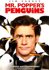 NEW/SEALED DVD-MR. POPPERS PENGUINS + ANIMATED SHORT! JIM CARREY STARS/COMEDY!