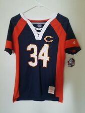 NFL Team Apparel CHICAGO BEARS  #34 WALTER PAYTON HALL OF FAME V-Neck Jersey NWT
