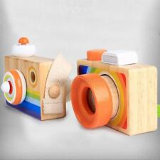 Kids Lovely Cartoon Baby Wooden Toys Room Decor Photo Wooden Camera Games Tools