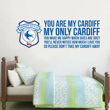 Cardiff City Football Club Official Crest & You Are My Cardiff Song Wall Sticker