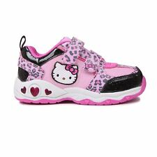 Hello Kitty Light Up Trainers Infants Pink Sneakers Trainer Shoes Footwear