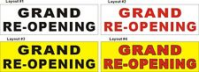 2ftX6ft Custom Printed GRAND RE-OPENING (Reopening) Banner Sign