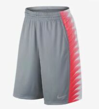 NWT Mens Nike Elite Wing Basketball Shorts Gray White Bright Crimson Large (L)