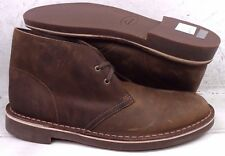 NEW Clarks Mens Bushacre 2 Brown Beeswax Ankle Boots Shoes 82286 size 10.5 M