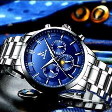 IK Colouring mens stainless steel watch chronograph moon phase auto date water r
