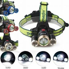 30000LM Headlamp XML T6 LED 3-Mode 18650 Camping Hiking Tactical Headlight
