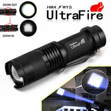 New 15000LM Zoomable 3 Mode Protable T6 LED Flashlight Torch Lamp Bike Clip New
