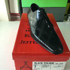 Jeffery West Black Line BLACK POLISHE Lace Up Brogue Shoe RRP £149 BNIB