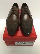 Jeffery West Black Line TAN LEATHER KENDA Lace Up Brogue Shoe RRP £149 BNIB