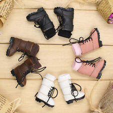 """Fashion Handmade PU Lace up Martin Boots Shoes for 12"""" Neo Blythe Pullip Doll"""