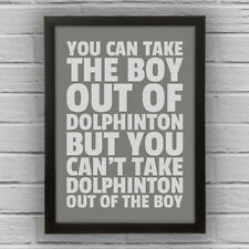 DOLPHINTON - BOY/GIRL FRAMED WORD TEXT ART PICTURE POSTER South Lanarkshire