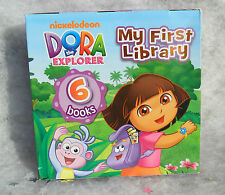 KIDS TODDLER BABY DORA THE EXPLORER BOXED BOARD BOOK LIBRARY CARRY GIFT SET