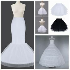 Wedding Petticoat Bridal Hoop Hoopless Crinoline Mermaid Prom Underskirt Dress