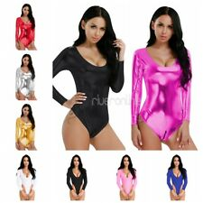 One-piece Women's Lingerie Long Sleeve Bodycon Bodysuit Leotard Thong Swimwear