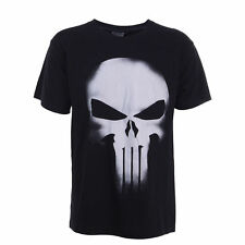 Black Tee The Punisher Skull Marvel Spiderman Inspired Short Sleeve T Shirt NEW