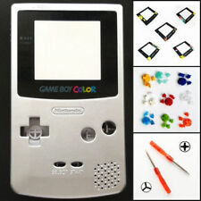 Nintendo Game Boy Color GBC Replacement Housing Shell Screen Silver BUTTONS!