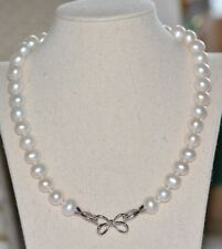 lovely big size natural pearl 11-12mm white pearls necklace jewelry