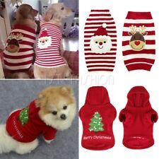 Pet Christmas Knit Sweater Cat Dog Clothes Puppy Xmas Party Santa Claus Jumper