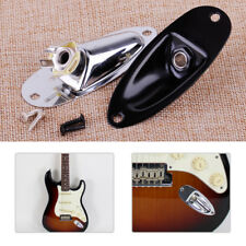 Boat Input Output Jack Plate Socket With Screws For Fender Strat Electric Guitar