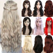 Hot Cosplay Wigs Long Anime Full Wig Halloween Fancy Costume for Women Ladies h4