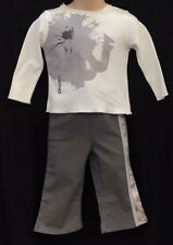 NEW Girls Boys Kenzo Kids Infants 12 month Silver Grey Cotton Athletic Sweatpant