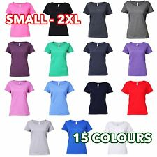 Ladies Girls Womens Softstyle® deep scoop t-shirt tee lot