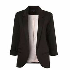 Winter Candy Color Three Quarter Sleeve Slim Fit Casual Blazer For Women