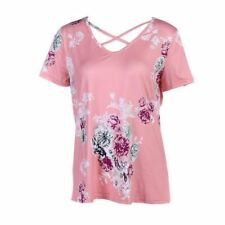Short Sleeve Causal Wear 2 Color Floral Printed T Shirt For Women
