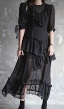 New Fashion Summer Yellow And Black Color Half Sleeve Dress For Women