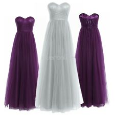 Women Mesh Pleated Evening Prom Bridesmaid Dresses Formal Wedding Party Cocktail