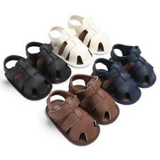 Infant Baby PU Leather Shoes Summer Hollow Soft Sole Sandals Breathable Shoes