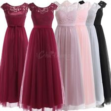 Women Long Lace Tulle Evening Party Dress Cocktail Bridesmaid Prom Maxi Dresses