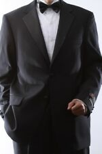MENS 2 BUTTON SUPER 140S WOOL BLACK TUXEDO JACKET, SML-J40412T-BLK