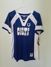 NEW MAJESTIC NFL Team Apparel INDIANAPOLIS COLTS V-Neck Jersey Shirt Womens NWT