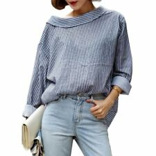 Women New Fashion Spring Autumn Stripe Long Sleeve Blouse