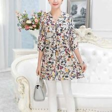 Women Summer Casual New Fashion Print Summer V-neck Loose Blouse